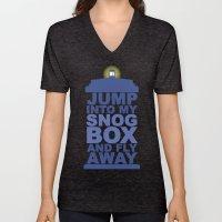 Snog Box (Tardis) Unisex V-Neck