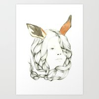 Gazelle Girl Art Print