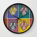 Warholian Cybermen (Doctor Who) Wall Clock