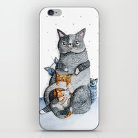 Cat family iPhone & iPod Skin