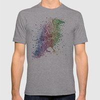 A Crow of Lace and Color Mens Fitted Tee Athletic Grey SMALL