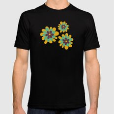 Flowers For Lola Black SMALL Mens Fitted Tee