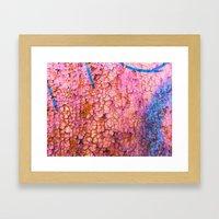 Cracks With Blue Lines Framed Art Print