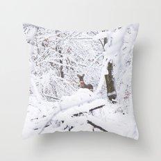 Bonnes Fêtes! Throw Pillow