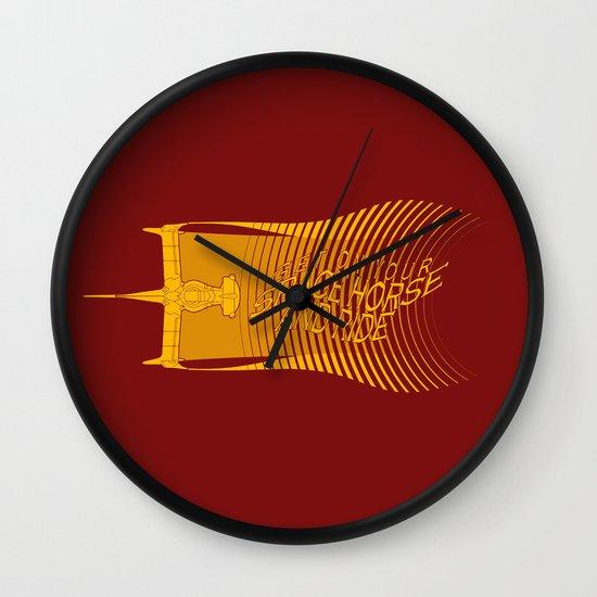 Space Horse (Spikes Horse)Bebop)Cowboy)Swordfish) Wall Clock