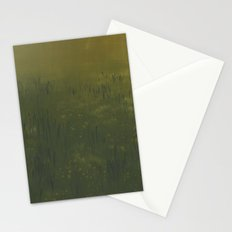 Yellow Green Print Stationery Cards