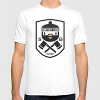 Shantyboy Studio Mens Fitted Tee White SMALL