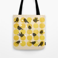 Birdsong Yellow Tote Bag