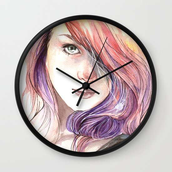 Lass Wall Clock