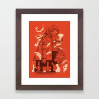 Cross Over Framed Art Print