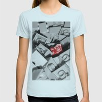 Red Brick Womens Fitted Tee Light Blue SMALL