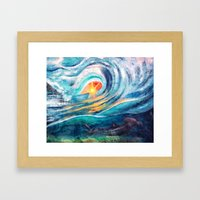 beneath the waves Framed Art Print