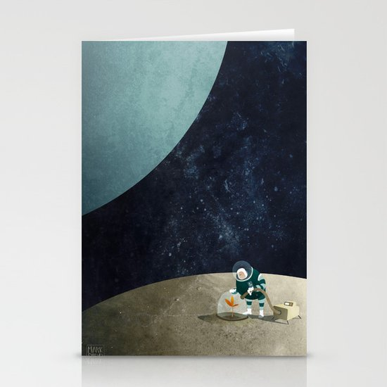 The Space Gardener Stationery Card