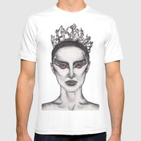 Natalie Portman - Black … Mens Fitted Tee White SMALL