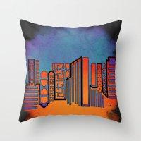 Opposing Sky Throw Pillow