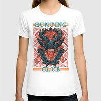 Hunting Club: Glavenus Womens Fitted Tee White SMALL