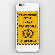 Crazy Cat People of America iPhone & iPod Skin