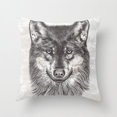 Canis Lupus (Gray Wolf) Throw Pillow