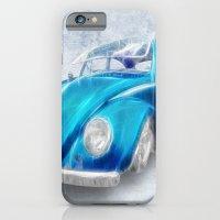 VW Beetle Blue iPhone 6 Slim Case