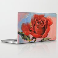 Rose Painting Laptop & iPad Skin