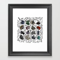 Retro Electronics Framed Art Print