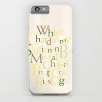 iPhone & iPod Case featuring white wine words by anastasia5