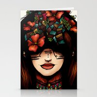 The Girl Who Was Thinkin… Stationery Cards