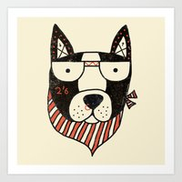 dog Art Prints featuring Dog by Farnell