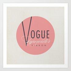 """Vintage Typewriter Tin Lids Series: """"Vogue"""" Art Print"""