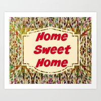 Stained Glass Home Sweet… Art Print