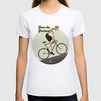 Tour De France Womens Fitted Tee Ash Grey SMALL