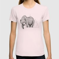 'Wildlife Analysis IV' Womens Fitted Tee Light Pink SMALL