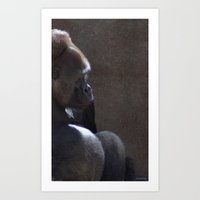 Profile Of Sadness Art Print