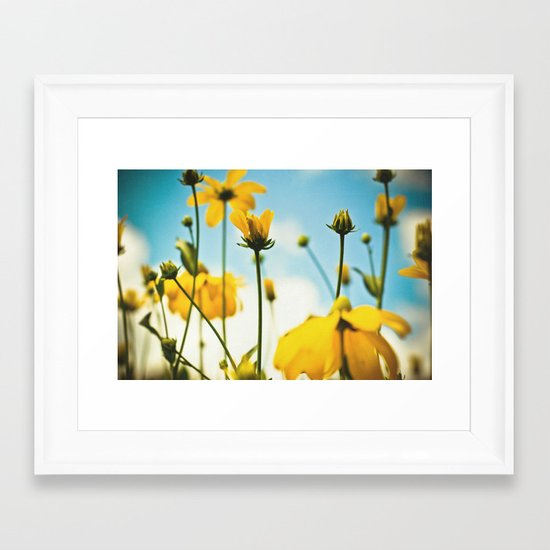 Happy day filled with sunshine Framed Art Print