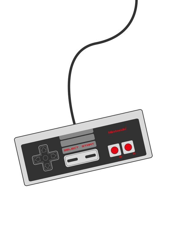 Nintendo NES Game Controller Art Print