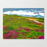 Canvas Print featuring Sea Side by KeCuddihee