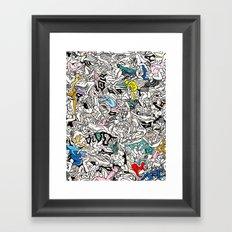 Kamasutra LOVE Doodle Closeup Color Framed Art Print
