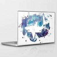 shark Laptop & iPad Skins featuring Shark by Vanishing Fin