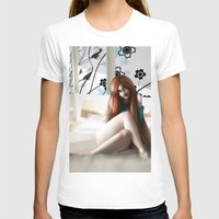 Angela´s Wait Womens Fitted Tee White SMALL