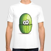 WATERMELON | SANDIA Mens Fitted Tee White SMALL