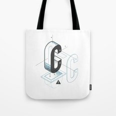The Exploded Alphabet / C Tote Bag