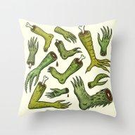 Throw Pillow featuring Disiecta Membra No. 2 by Jon MacNair