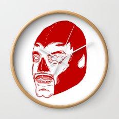 Red Luchador Wall Clock
