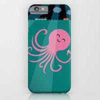 iPhone & iPod Case featuring Octopus Selfie at Night by Mouki K. Butt