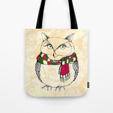 Owl With Scarf. Funny Ow… Tote Bag