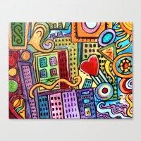 Pretty City Canvas Print