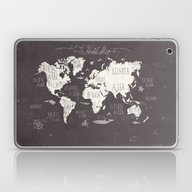 Laptop & iPad Skin featuring The World Map by Mike Koubou