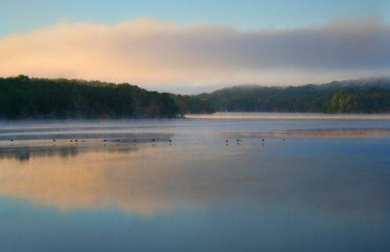 Sunrise on the Reservoir Art Print