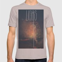SKY LIGHTS Mens Fitted Tee Cinder SMALL