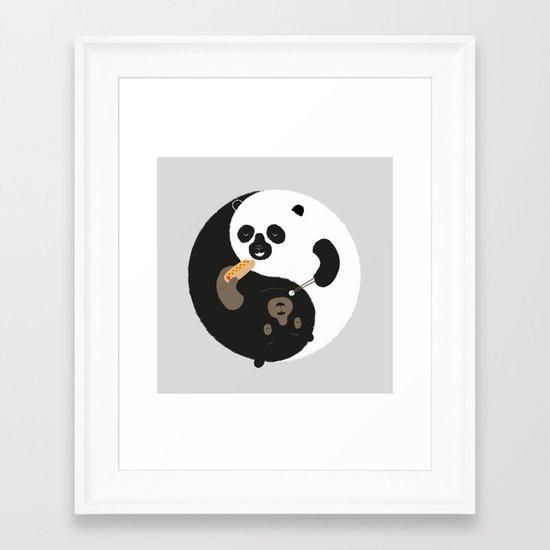 Yin-Yank Framed Art Print